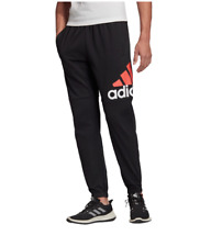 adidas Essential Tapered Jersey Pants 2xl Navy Blue White Logo for ...