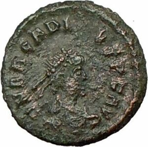 ARCADIUS-383AD-Genuine-Ancient-Roman-Coin-VICTORY-Nike-Angel-i18824