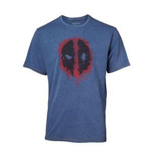 Deadpool Classic Style Guide T-Shirt Synthétique Denim T-Shirt XXL BLEU TS551101DEA-2XL