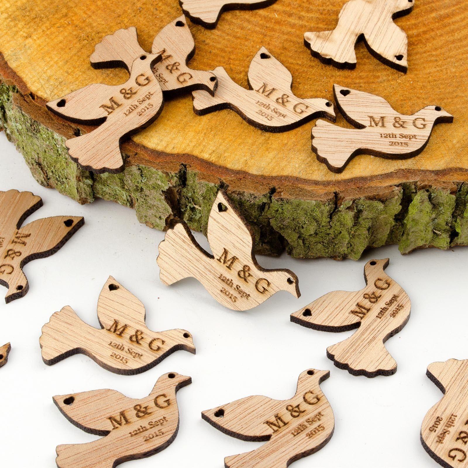 Personalisiert Holz Taube Tisch Dekorationen Rustikale Vintage  Vogel