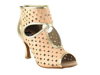 Latin Salsa Very Fine Ballroom Competitive Dance Back Zip Bootie Shoes CD3022
