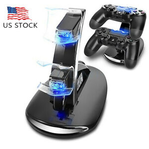 For-PlayStation-PS4-Dual-Controller-Charger-Dock-Station-USB-Fast-Charging-Stand