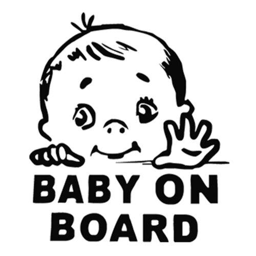 Cute Baby On Board Car Vinyl Sticker Window Bumper Auto Truck Door Decal Decor