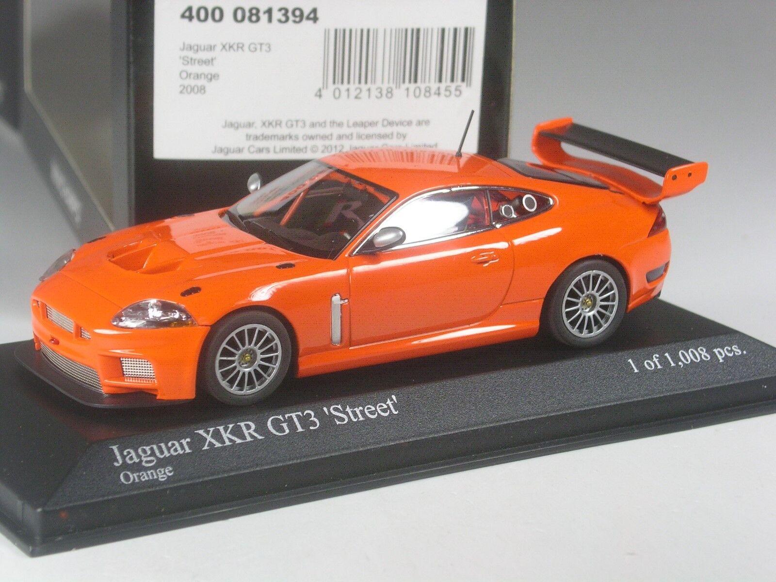 CLASSE  minichamps jaguar XKR gt3 Street Orange en 1 43 dans neuf dans sa boîte