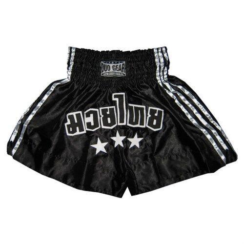 S/&s Black muay thai shorts martial arts kick boxing trunks fight