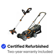 "WORX WG911 2X20V 17"" Lawn Mower Powershare with 12"" Cordless GT Trimmer & Edger"