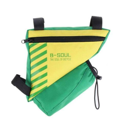 Bicycle Cycling Triangle Front Frame Tube Bag Bike Bottle Pannier Pocket M9C4