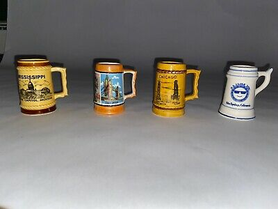 Miniature Beer Stein Pottery Beer Stein Small Beer Stein Souvenir Beer Stein