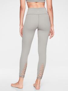 dd1fb9c88dad2 Athleta Silver Grey Savasana Macrmae 7/8 Tight Yoga Fitness Pant NWT ...