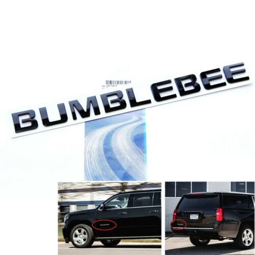 1x Black OEM BUMBLEBEE Nameplate Emblem Badge for Camaro GM Silverado Ford e YU