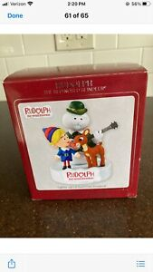 NEW-HEIRLOOM-Rudolph-THE-RED-NOSED-REINDEER-MUSICAL-Lights-Up-Ornament