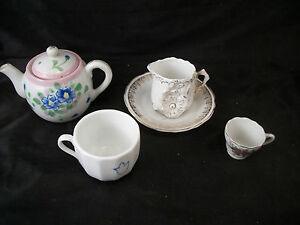 Mini Tea Set Little Girls Pot Saucer Creamer Cups Make Believe Play