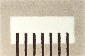 Rhomtuft-Badteppich-Badvorleger-Badematte-PIANO-60x90-cm-Farben-beigetoene