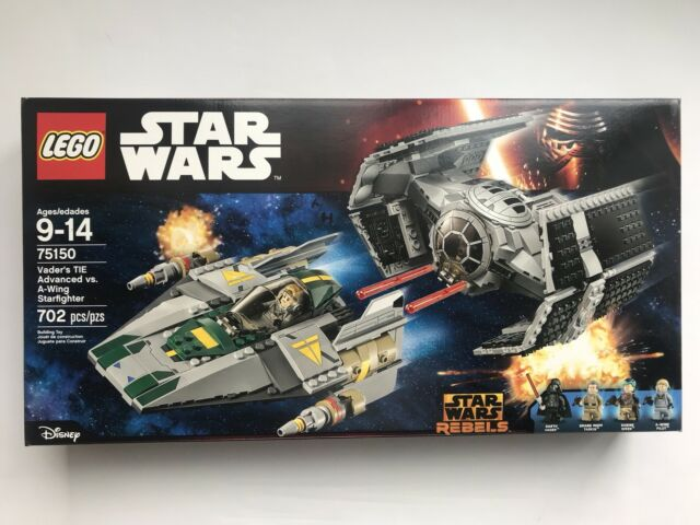 LEGO Vader's TIE Advanced vs. A-Wing Starfighter Star Wars 75150 - New Sealed Se