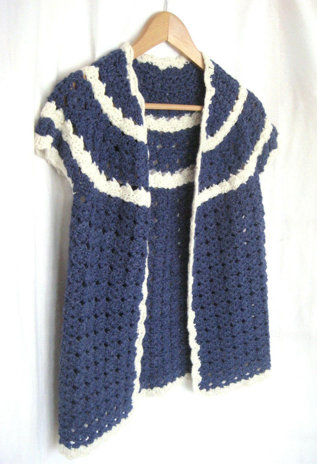 Vintage Women Hand Knit Crochet Short Sleeve Open… - image 4
