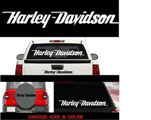 DDD6 HARLEY DAVIDSON WINDOW VINYL GRAPHIC DECAL MOTORCYCLE TRUCK CAR FREE SHIP