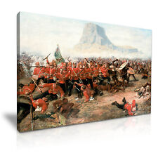 La battaglia di isandlwana Zulu War CANVAS WALL ART PICTURE PRINT 76x50cm