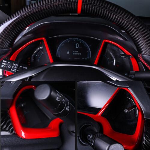 Red Dashboard Decorative Frame For Honda 2016-19 Civic Hatchback Si coupe sedan