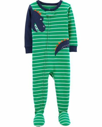 NWT Carters Jungle Animals Vehicles Dinosaur Boys Footed Cotton Pajamas Sleeper