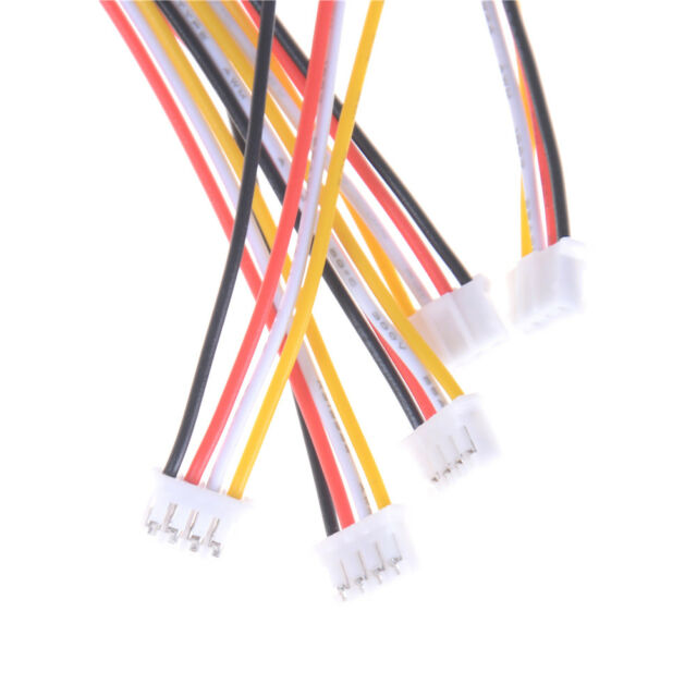 5Pcs Mini Micro JST 2.0mm PH 4-Pin Male Connector Plug Wires Cables 200mm*TB