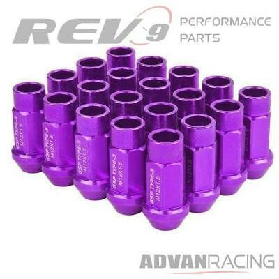 RED New 55mm GSP GodSpeed New Type 3 X Open End Lug Nuts 20pc Set M12x1.25