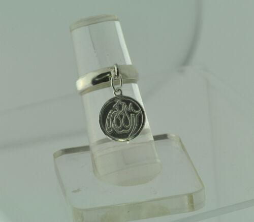 Allah Ring Dangle Move sterling silver .925 Islam Islamic Jewelry Muslim tasbih