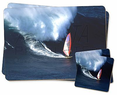 Wind Surfer Twin 2x Tovagliette +2x Sottobicchieri Set In Scatola Regalo, Spo-ws2pc-mostra Il Titolo Originale Smoothing Circulation And Stopping Pains