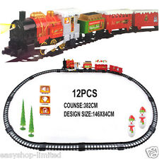 XL Santa Holiday Express Christmas Train Set, Train Station & 4 Xmas Carriages
