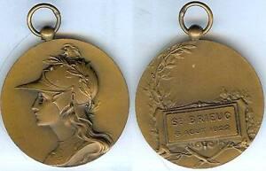 DéVoué Gymnastique - Saint-brieuc 1922 Concours De Gymnastique D=40 Mm Bronze Soyez Amical Lors De L'Utilisation