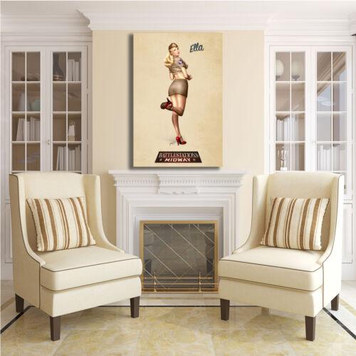 Pin Up vintage anni 50 60 70 design quadro stampa tela telaio arredo casa 08