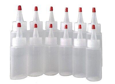 2oz Plastic Squeeze Bottles Yorker Cap12/pk - Paint Crafts Condiments Glue New