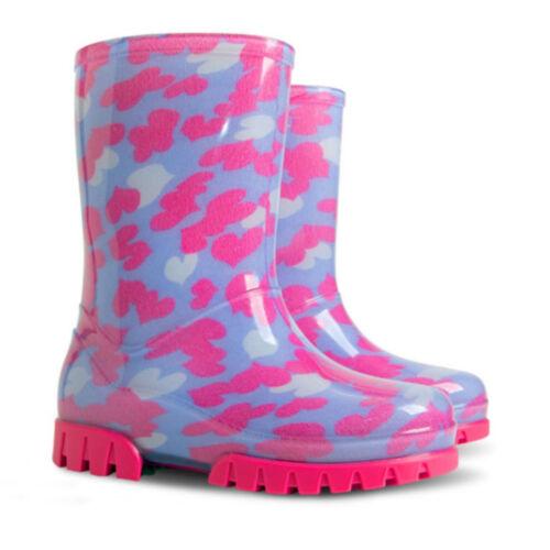 DEMAR TWISTER PRINT Stivali da pioggia di gomma scarpe bambini impermeabili