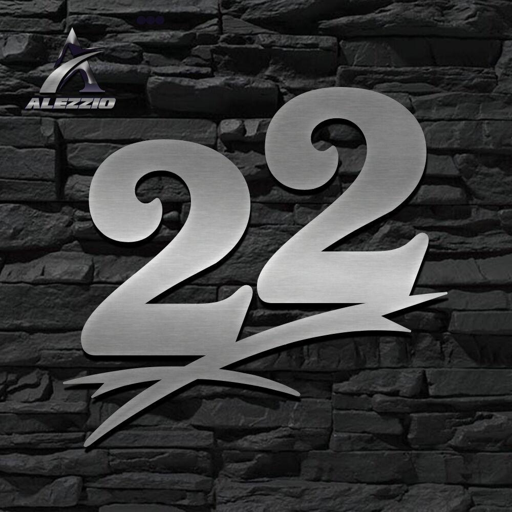HAUSNUMMER EDELSTAHL 22 in 16cm,20cm,30cm,40cm,50cm,ORIGINAL ALEZZIO DESIGN  NEU