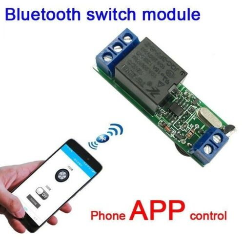 DC 12V Bluetooth door lock access control phone APP switch relay module Android