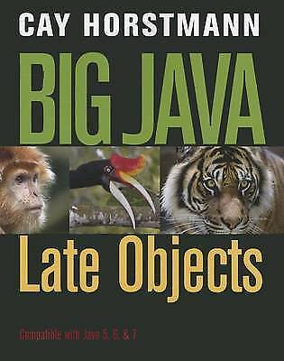 1 of 1 - Big Java: Late Objects, Horstmann, Cay S., Used; Very Good Book