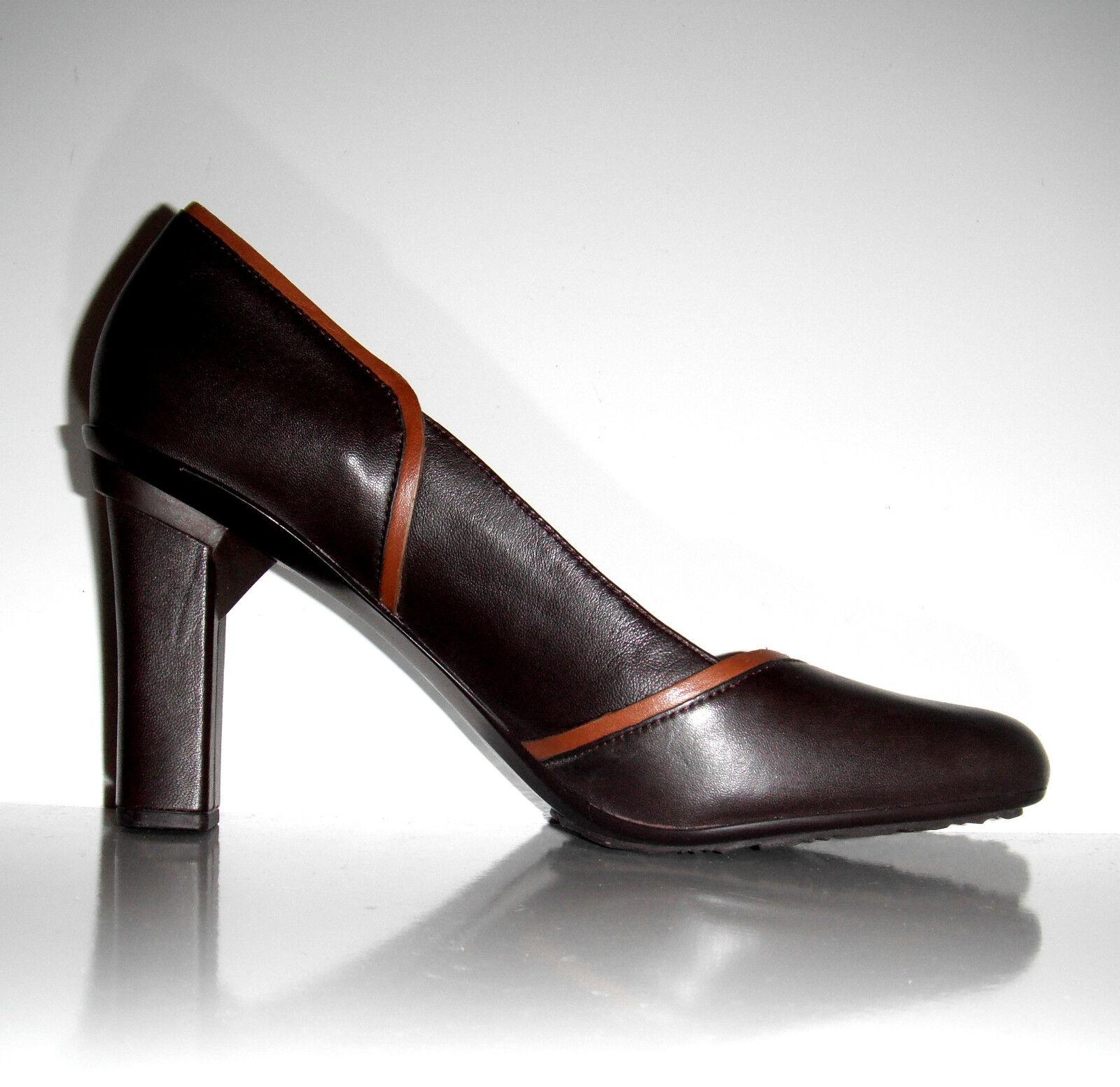 130 NEU Tsubo Avoca Dark Chocolate Leder Heel Elegant Schuhe sz 10
