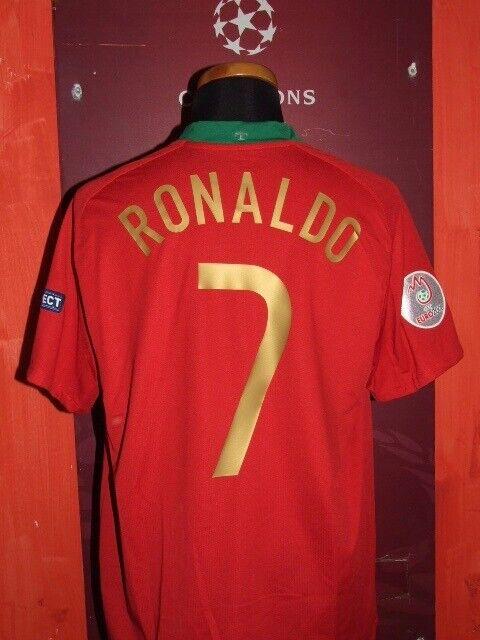 C.RONALDO PORTUGAL EURO 2008 MAGLIA SHIRT CALCIO FOOTBtutti MAILLOT JERSEY SOCCER