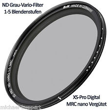 B + W ND gris-Vario-Filter 67 mm 1-5 niveles de abertura XS pro digital MRC Nano