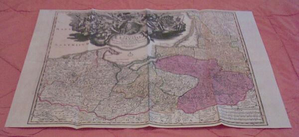 Brillant Die Karte Des Königreichs Preußen Um 1712 - Replikat