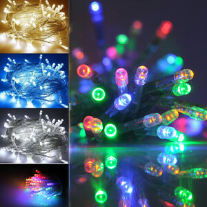 Battery String Lights Indoor : 2M/4M Battery Operated LED String Fairy Lights Indoor Xmas Christmas Party Vase eBay