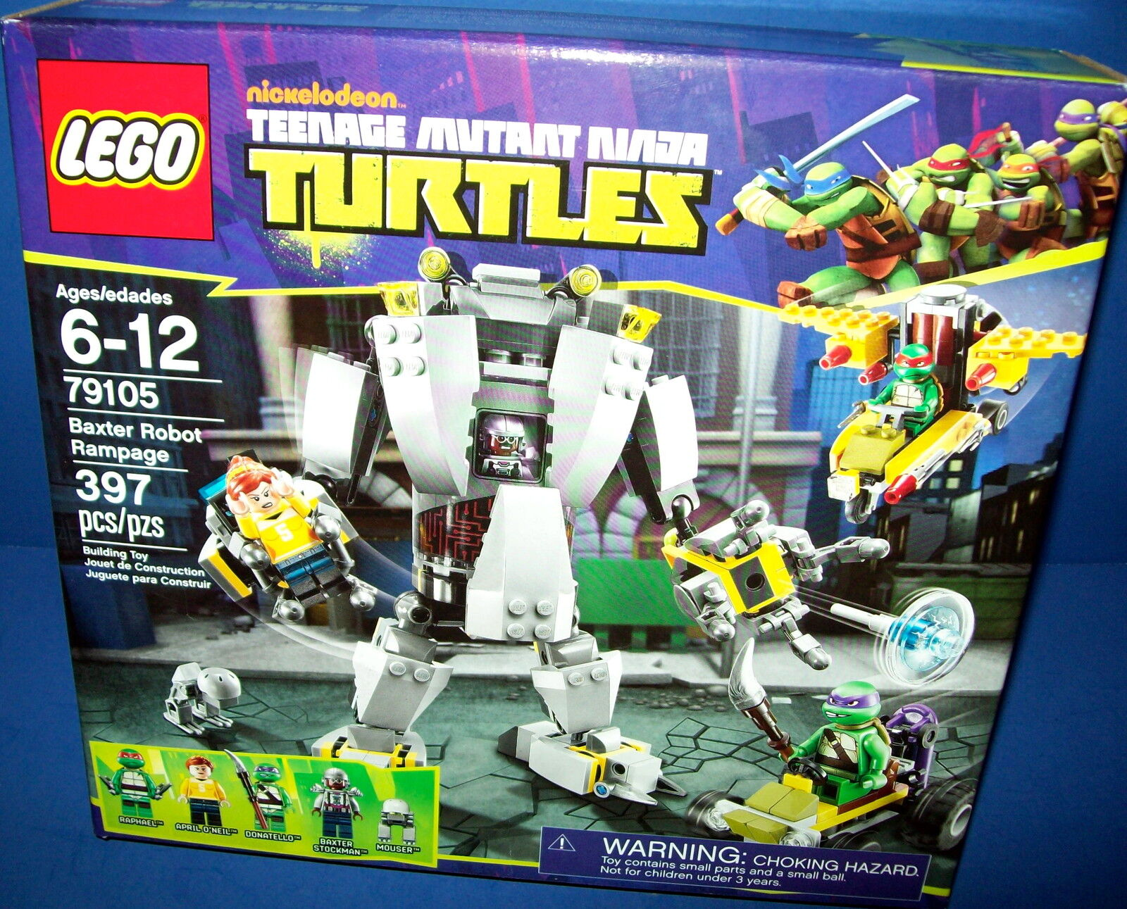 LEGO 79105 Baxter Robot Rampage TMNT Teenage Mutant  Ninja Turtles sa retraite  en stock