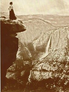 POSTCARD-FROM-PHOTOGRAPH-OF-WOMAN-ON-A-CLIFF-IN-YOSEMITE-THIS-IS-A-REPRODUCTION
