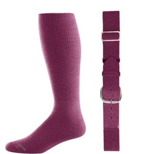 All Sizes /& Colors Available Joe/'s USA Baseball Socks /& Belt Combo Set