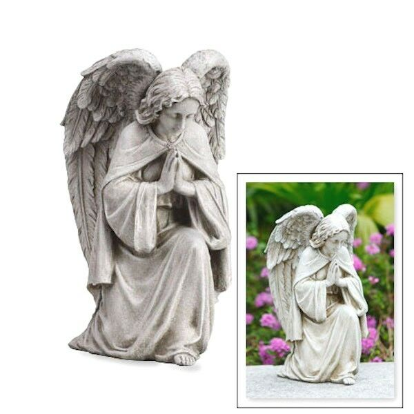 Angel Praying Garden Statue  Memorial Gift  Grave or Home Guardian Angel 12 T