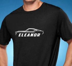 1967 Ford Mustang Eleanor Muscle Car Outline Design Tshirt New Free