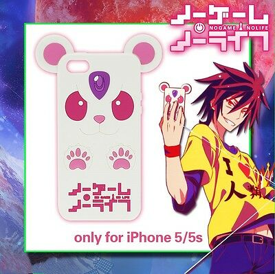 Anime NO GAME NO LIFE Cosplay Sora Cell Phone 3D Soft Cover Case For iphone 5 5S