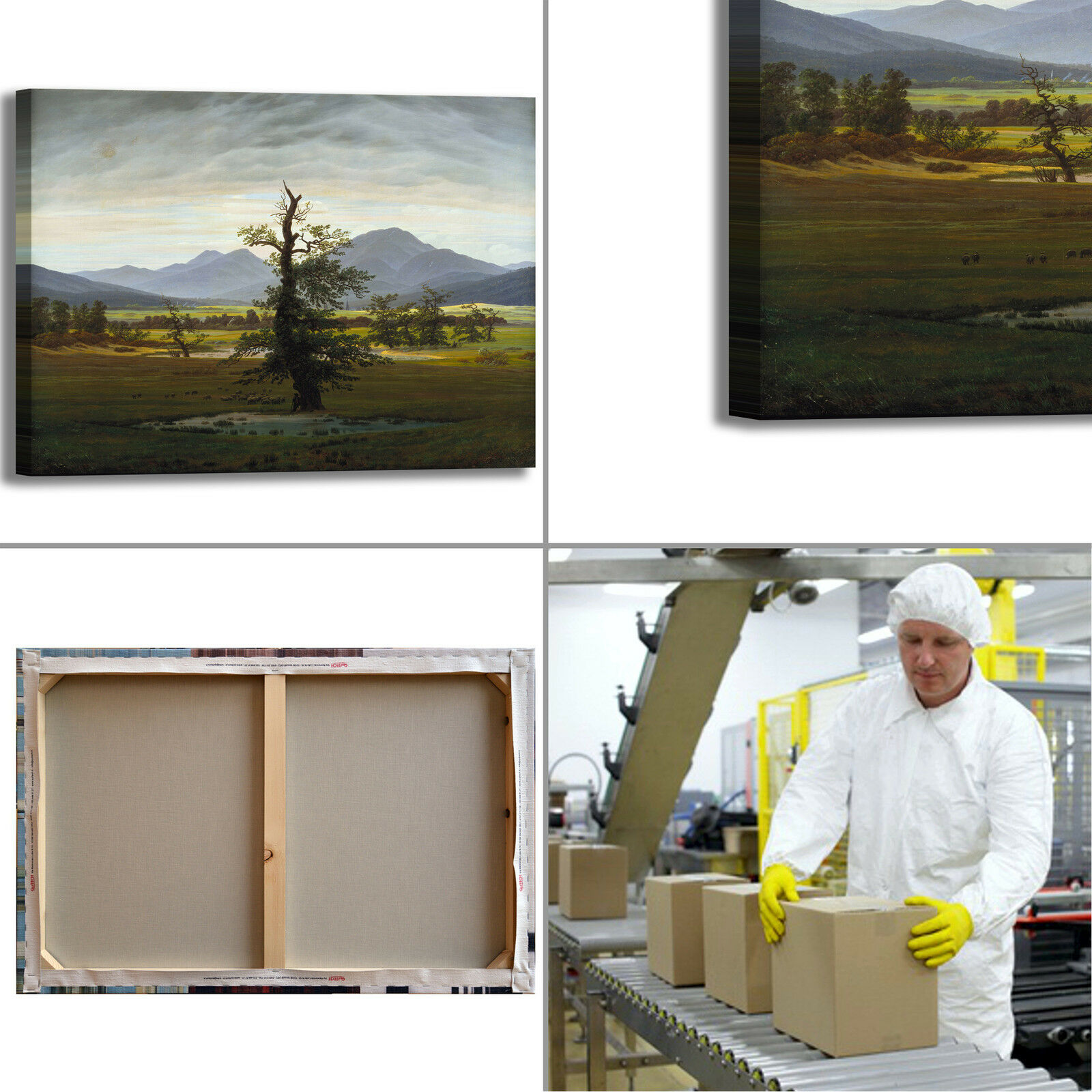 Caspar albero albero Caspar solitario design quadro stampa tela dipinto telaio arRouge o casa a30748