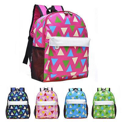 Children School BookBags Boys Girls Canvas Shoulder Bag Outdoor Travel Backpack