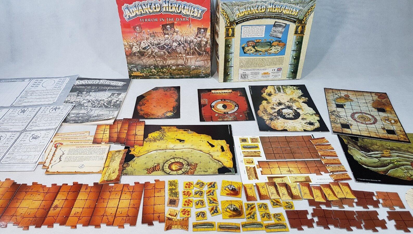 Advanced Heroquest  TERROR IN THE DARK complete Hero Quest [ENG,1991] + EXTRAS