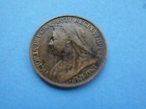 1900 Veiled Victoria Farthing Nice Condition - Herefordshire, United Kingdom - 1900 Veiled Victoria Farthing Nice Condition - Herefordshire, United Kingdom